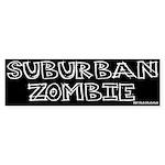 Suburban Zombie Bumper Sticker