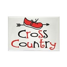 Cross Country Shoe Rectangle Magnet (100 pack)