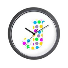 The Letter 'J' Wall Clock