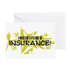 I ROCK THE S#%! - INSURANCE Greeting Cards (Pk of