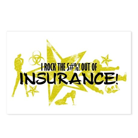I ROCK THE S#%! - INSURANCE Postcards (Package of