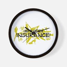 I ROCK THE S#%! - INSURANCE Wall Clock