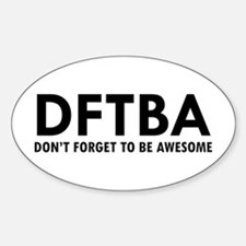 DFTBA Sticker (Oval)