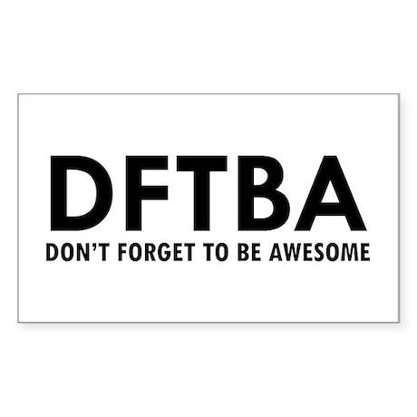 DFTBA Sticker (Rectangle)