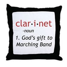 Clarinet Definition Throw Pillow