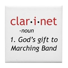 Clarinet Definition Tile Coaster