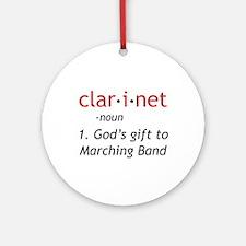 Clarinet Definition Ornament (Round)