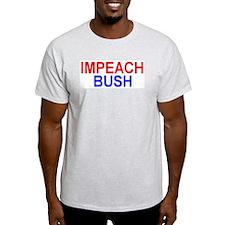 IMPEACH BUSH Ash Grey T-Shirt