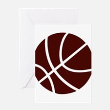 BASKETBALL *2* {crimson} Greeting Card