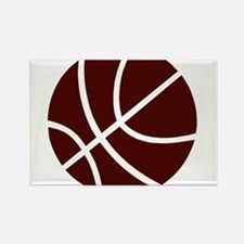 BASKETBALL *2* {crimson} Rectangle Magnet