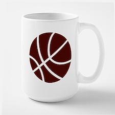 BASKETBALL *2* {crimson} Large Mug