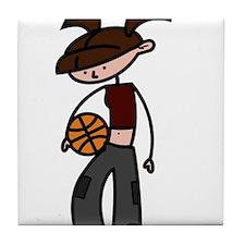 BASKETBALL *5* {crimson} Tile Coaster