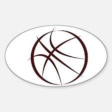 BASKETBALL *6* {crimson 4} Sticker (Oval)
