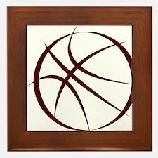 BASKETBALL *6* {crimson 4} Framed Tile