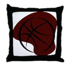 BASKETBALL *7* {crimson 3} Throw Pillow