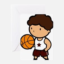 BASKETBALL *8* {crimson} Greeting Card