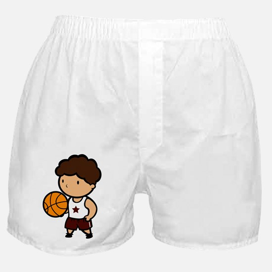 BASKETBALL *8* {crimson} Boxer Shorts