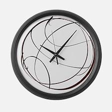 BASKETBALL *9* {crimson} Large Wall Clock