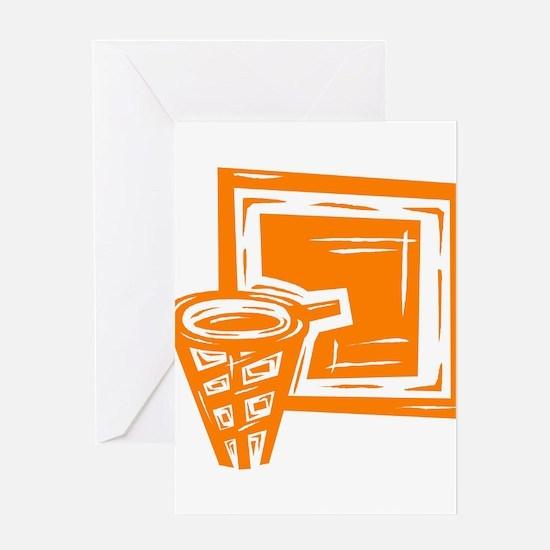 BASKETBALL *10* {orange} Greeting Card