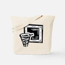 BASKETBALL *10* {black} Tote Bag