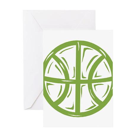 BASKETBALL *11* {green} Greeting Card