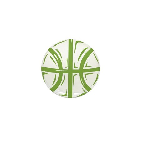 BASKETBALL *11* {green} Mini Button