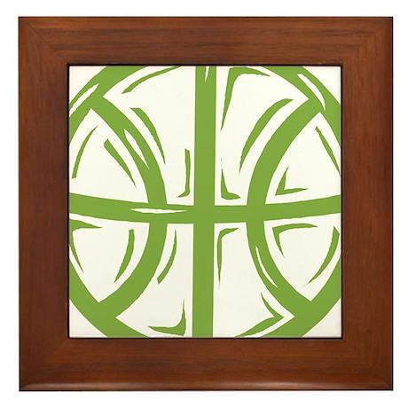 BASKETBALL *11* {green} Framed Tile