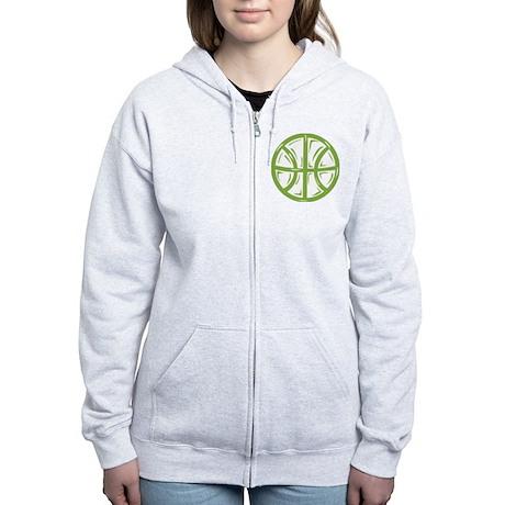 BASKETBALL *11* {green} Women's Zip Hoodie