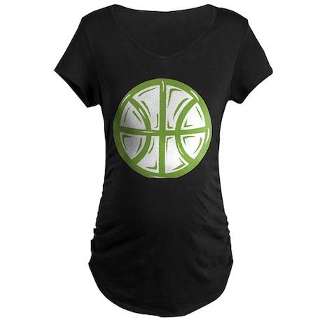 BASKETBALL *11* {green} Maternity Dark T-Shirt