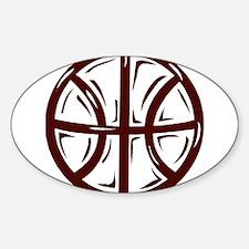 BASKETBALL *11* {crimson} Sticker (Oval)