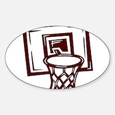 BASKETBALL *14* {crimson} Sticker (Oval)