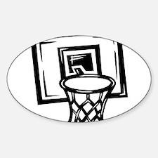 BASKETBALL *14* {black} Sticker (Oval)