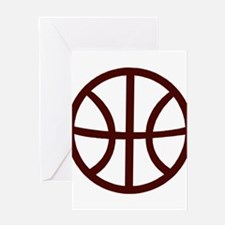 BASKETBALL *15* {crimson} Greeting Card