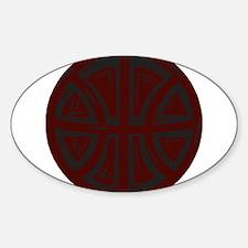 BASKETBALL *16* {crimson 1} Sticker (Oval)
