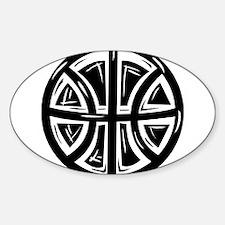 BASKETBALL *12* {black} Sticker (Oval)