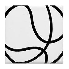 BASKETBALL *17* {black} Tile Coaster