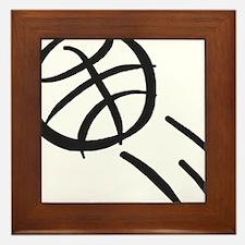 BASKETBALL *19* {gray} Framed Tile