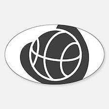 BASKETBALL *20* {gray} Sticker (Oval)