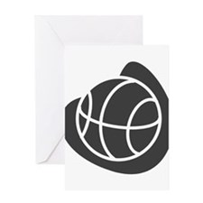BASKETBALL *20* {gray} Greeting Card