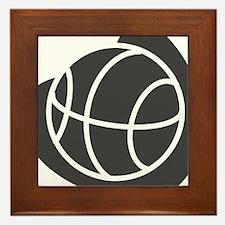 BASKETBALL *20* {gray} Framed Tile