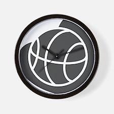 BASKETBALL *20* {gray} Wall Clock