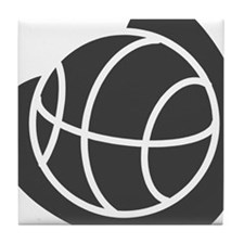 BASKETBALL *20* {gray} Tile Coaster
