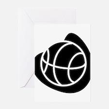 BASKETBALL *20* {black} Greeting Card