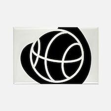 BASKETBALL *20* {black} Rectangle Magnet