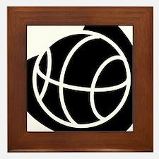 BASKETBALL *20* {black} Framed Tile