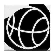 BASKETBALL *20* {black} Tile Coaster