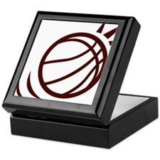 BASKETBALL *23* {crimson} Keepsake Box