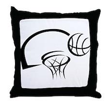 BASKETBALL *31* {black} Throw Pillow