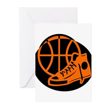 BASKETBALL *32* [orange} Greeting Cards (Pk of 20)
