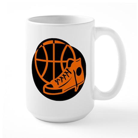 BASKETBALL *32* [orange} Large Mug